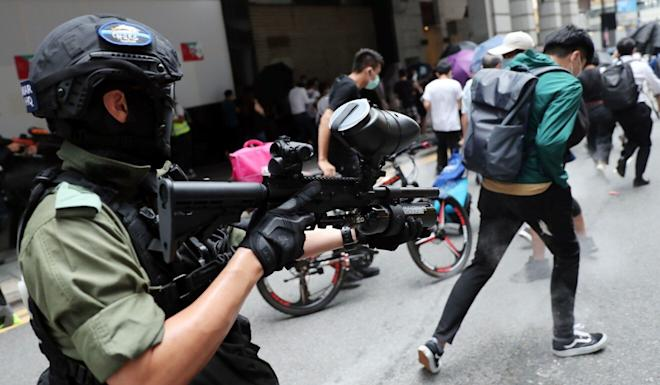 The national security law was adopted by Beijing for Hong Kong this summer after months of anti-government protests disrupted the city. Photo: Sam Tsang