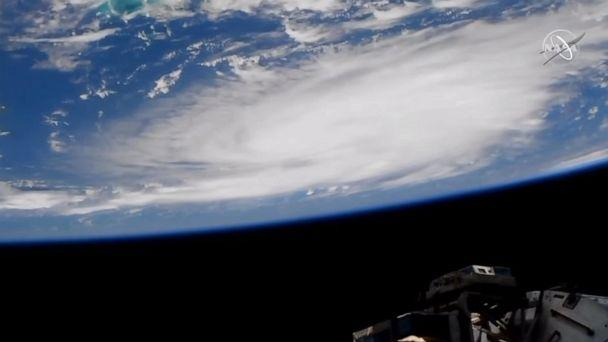 PHOTO: A camera outside of the International Space Station captured views of Hurricane Dorian at 1:05 p.m.EST, Aug. 29, 2019, as it churned over the Atlantic Ocean. (NASA)