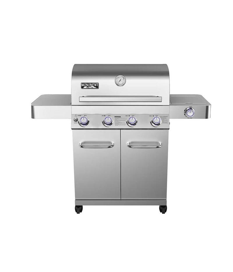 Monument Grills 4-Burner Built-In Propane Gas Grill with Cabinet (Photo: Wayfair)