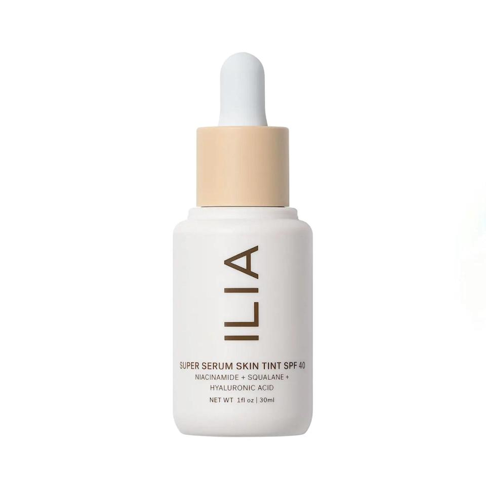 """I thought the perfect tinted moisturizer didn't exist…until I tried Ilia's Super Serum Skin Tint. Packed with plant-based squalene, niacinamide, and hyaluronic acid, the formula is incredibly lightweight and hydrating—and the matte finish gives my skin this lit-from-within look that I'm obsessed with. The 30-shade range and addition of SPF 40 make it a full-package deal. —<em>T.A.</em> $48, Ilia. <a href=""""https://shop-links.co/1739243135131551177"""" rel=""""nofollow noopener"""" target=""""_blank"""" data-ylk=""""slk:Get it now!"""" class=""""link rapid-noclick-resp"""">Get it now!</a>"""