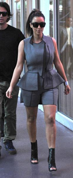 Kim Kardashian Commits Another Fashion Flop In 'Skorts' Suit!