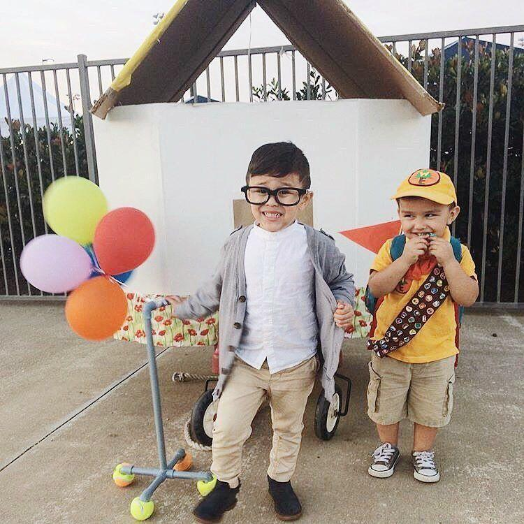 """<p>We love any Halloween costume that involves balloon props and dressing little kids up as older people. This adorable <em>Up</em> costume accomplishes both. </p><p><em><a href=""""https://www.instagram.com/p/BowyTWKgWvC/"""" rel=""""nofollow noopener"""" target=""""_blank"""" data-ylk=""""slk:See more on Instagram »"""" class=""""link rapid-noclick-resp"""">See more on Instagram »</a></em></p>"""