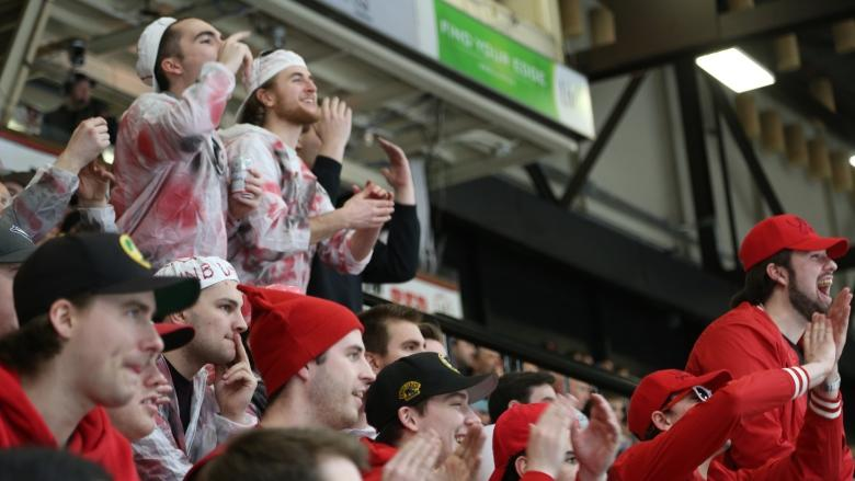 How to get the other team's goat, as told by UNB hockey superfans