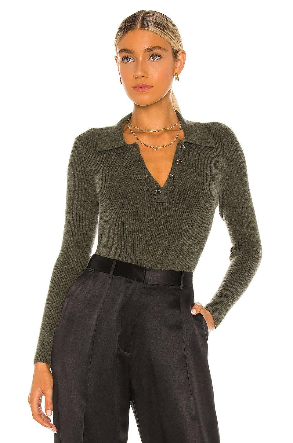 <p>This <span>One Grey Day X Revolve Tamar Crop Polo</span> ($158) is such a great layering piece.</p>