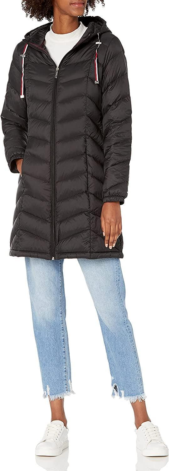 <p>This <span>Tommy Hilfiger Mid-Length Down Packable Jacket</span> ($77, originally $100) will be your companion on road trips, city strolls, or weekends in the country. It's a timeless style you'll turn to season after season.</p>