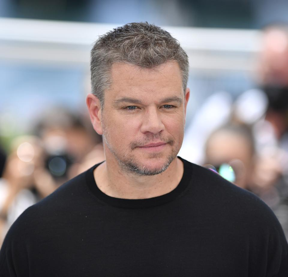 CANNES, FRANCE - JULY 09: US actor Matt Damon poses during the photocall for the film 'Stillwater' at the 74th annual Cannes Film Festival in Cannes France on July 09, 2021 (Photo by Mustafa Yalcin/Anadolu Agency via Getty Images)