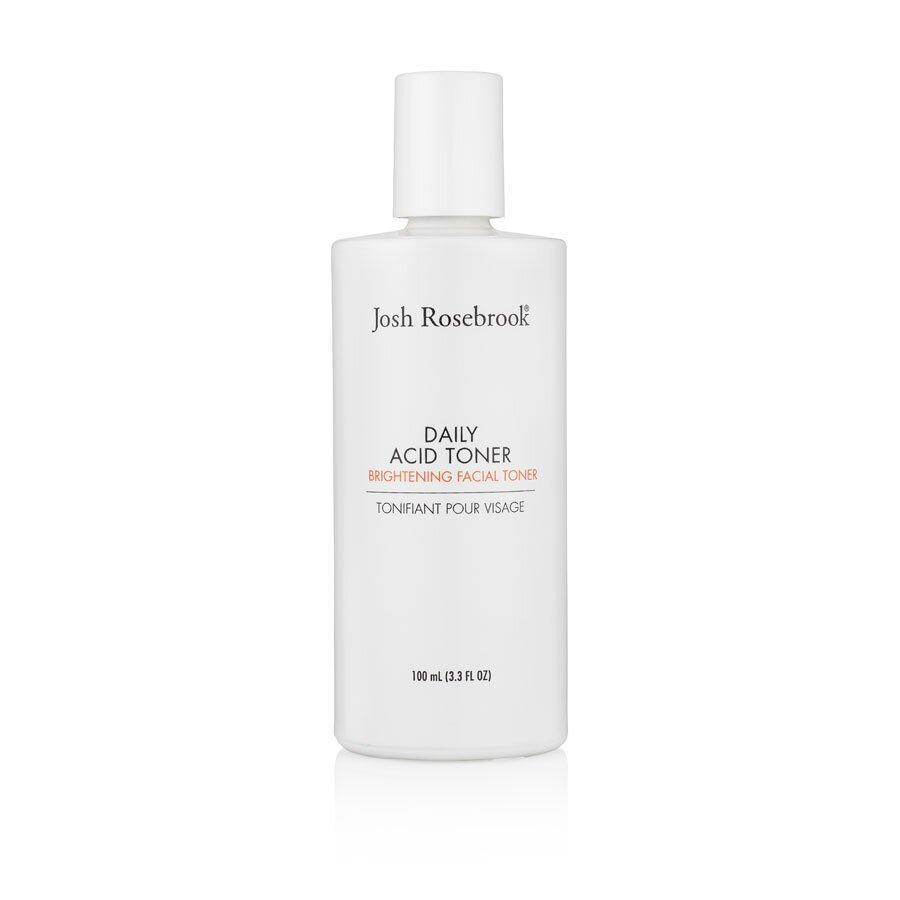 <p>Perfect for all skin types, Josh Rosebrook's toner is a cocktail of natural exfoliating, brightening, and anti-aging ingredients including glycolic acid, sea kelp, hibiscus flower acid, and irish moss. </p>