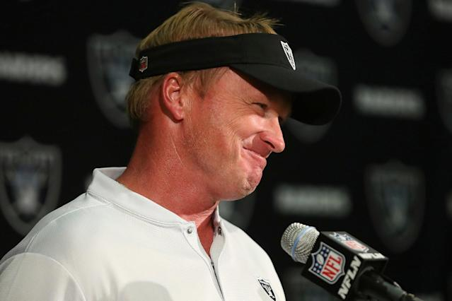 Gruden has three first round picks to play with (AP)