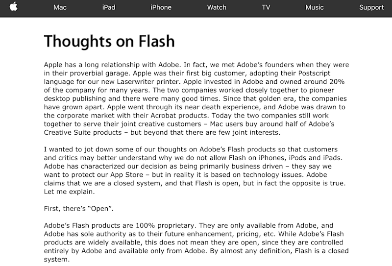 Thoughts on Flash