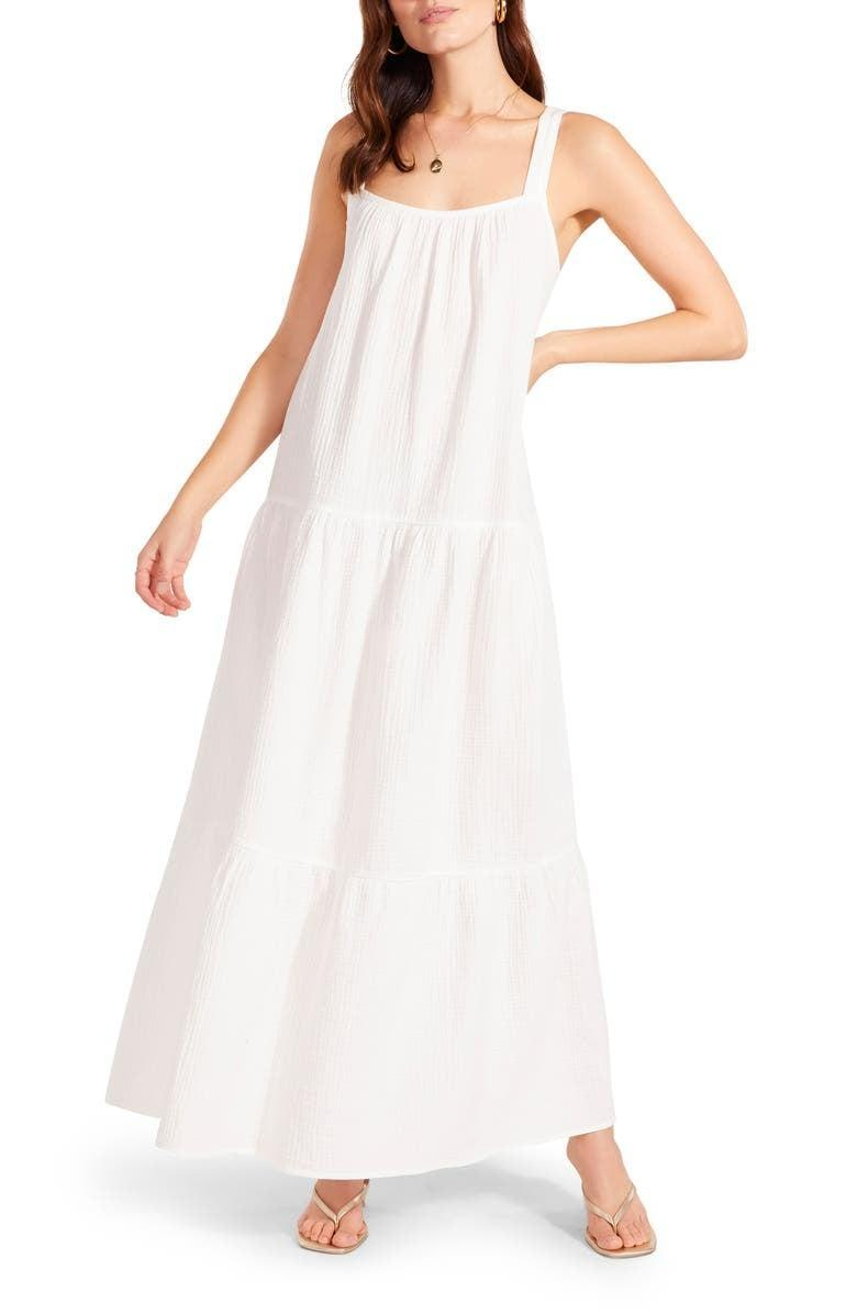 <p>This affordable <span>Arianna Sleeveless Tiered Cotton Maxi Dress</span> ($39) comes in all sorts of colors.</p>