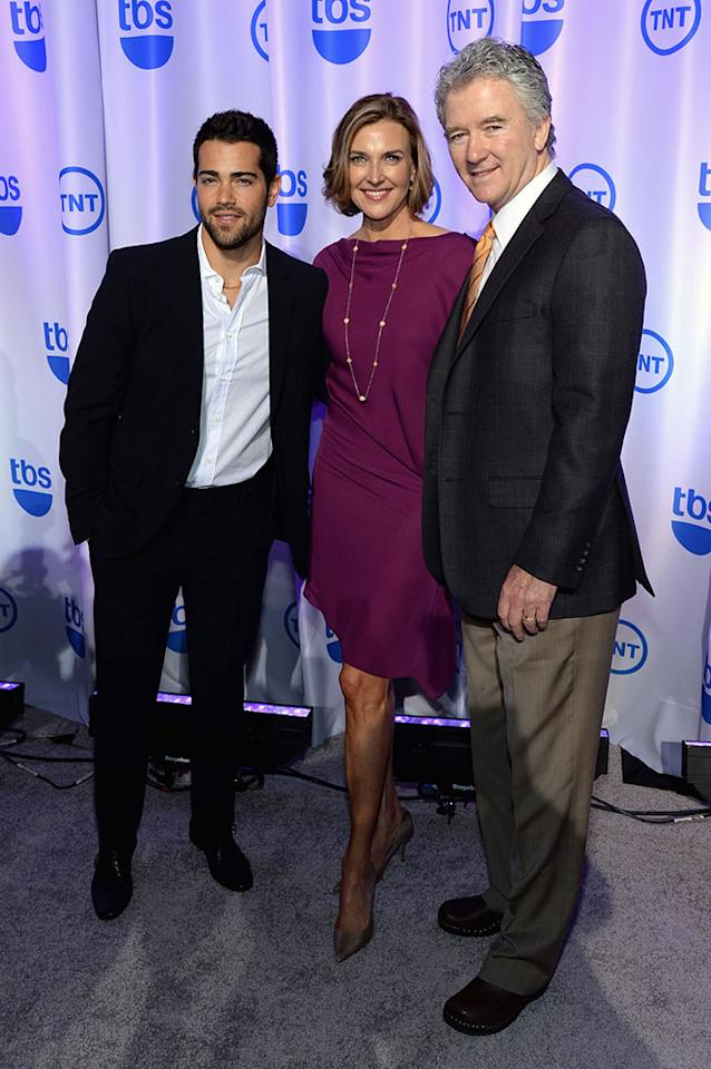 "Jesse Metcalfe, Brenda Strong and Patrick Duffy (""Dallas"") attend the 2013 TNT/TBS Upfront at Hammerstein Ballroom on May 15, 2013 in New York City."