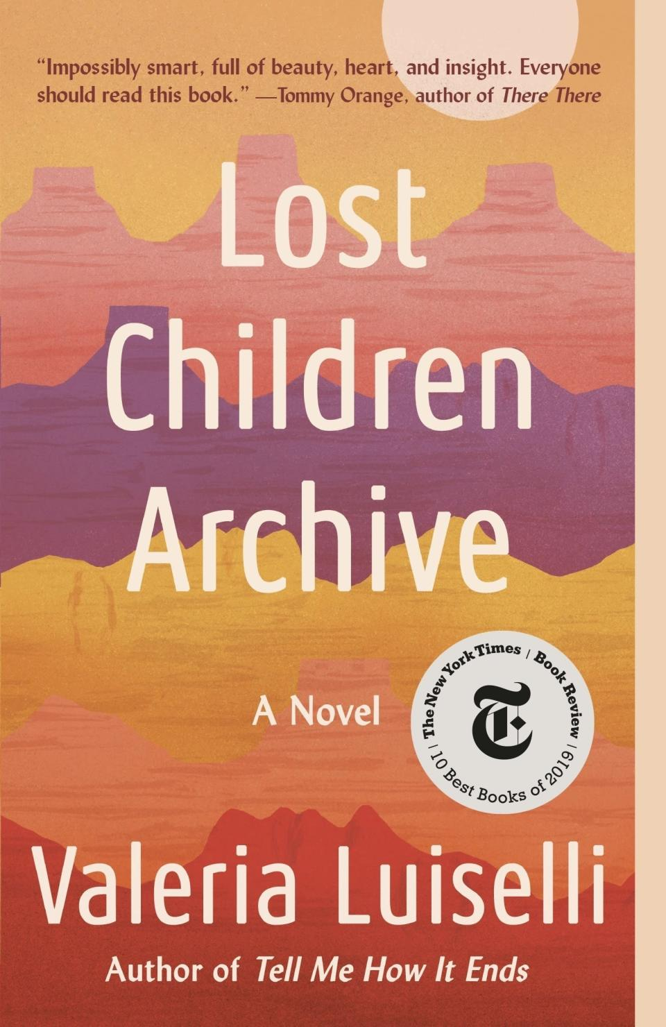 """This cover image released by Vintage shows """"Lost Children Archive,"""" a novel by Valeria Luiselli. (Vintage via AP)"""