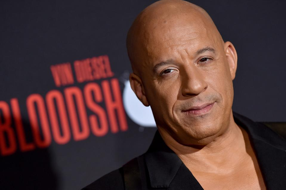 "Vin Diesel attends the premiere of Sony Pictures' ""Bloodshot"" on March 10, 2020. (Photo by Axelle/Bauer-Griffin/FilmMagic)"