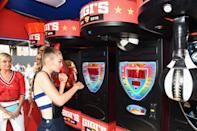 <p>To encourage people to buy the collection, Gigi held a meet and greet with eager fans. As well as taking endless selfies, the model played around in the arcade and ate some well-deserved doughnuts.<br><i>[Photo: Getty]</i> </p>
