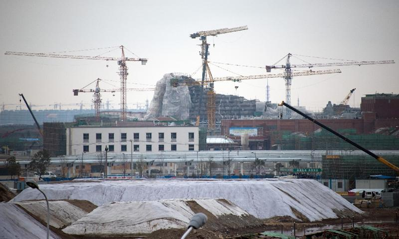 Construction of a Disney amusement park in Shanghai, pictured on February 2, 2015