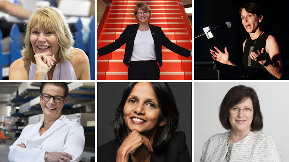 Pictures of six women of 15 who are CEOs of ASX300 companies.