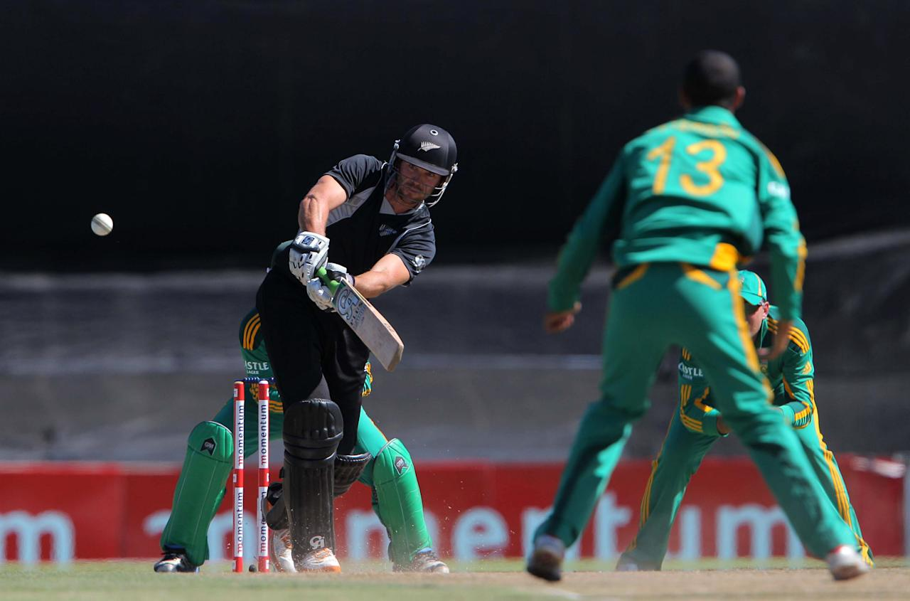 PAARL, SOUTH AFRICA - JANUARY 19: James Franklin of New Zealand bats during the 1st One Day International match between South Africa and New Zealand at Boland Park on January 19, 2013 in Paarl, South Africa.  (Photo by Carl Fourie/Gallo Images/Getty Images)