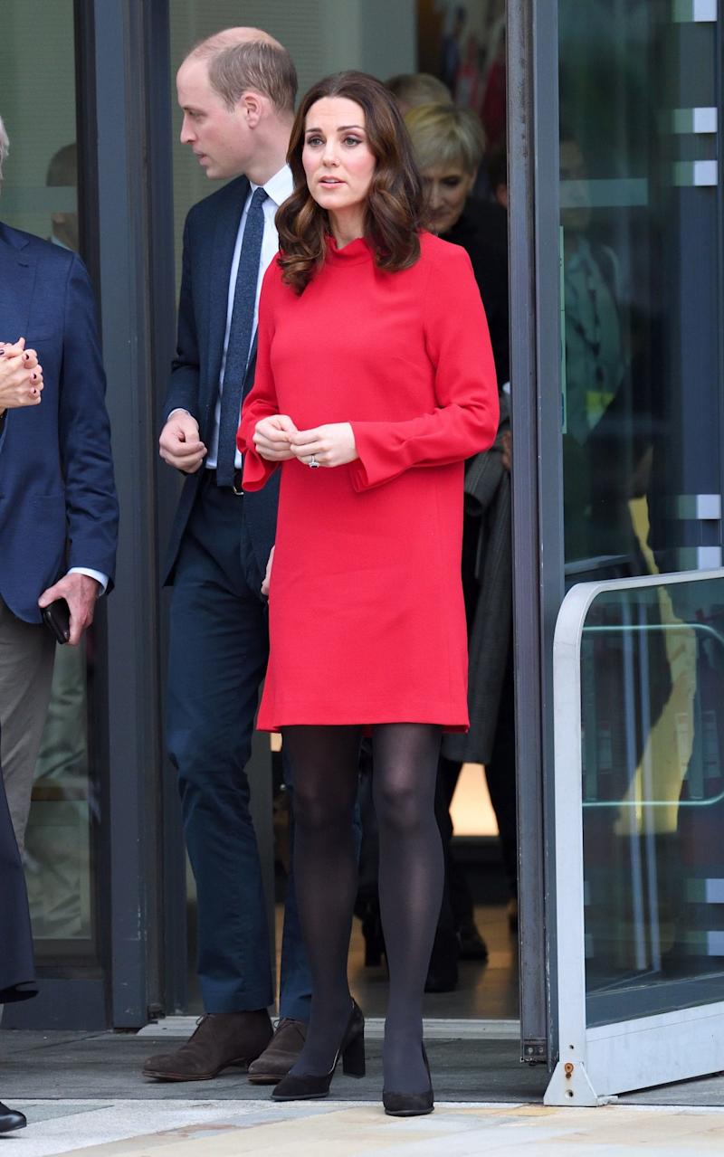 The Duchess of Cambridge wearing Goat today - WireImage