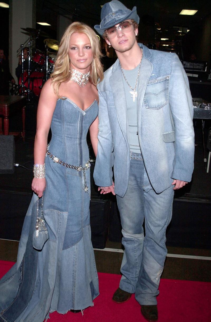 We'll never forget the time Britney Spears and Justin Timberlake went all in with their outfit coordination and wore matching denim outfits (seen in this photo) to the American Music Awards. It was 2001, and we were clearly living in a different time.