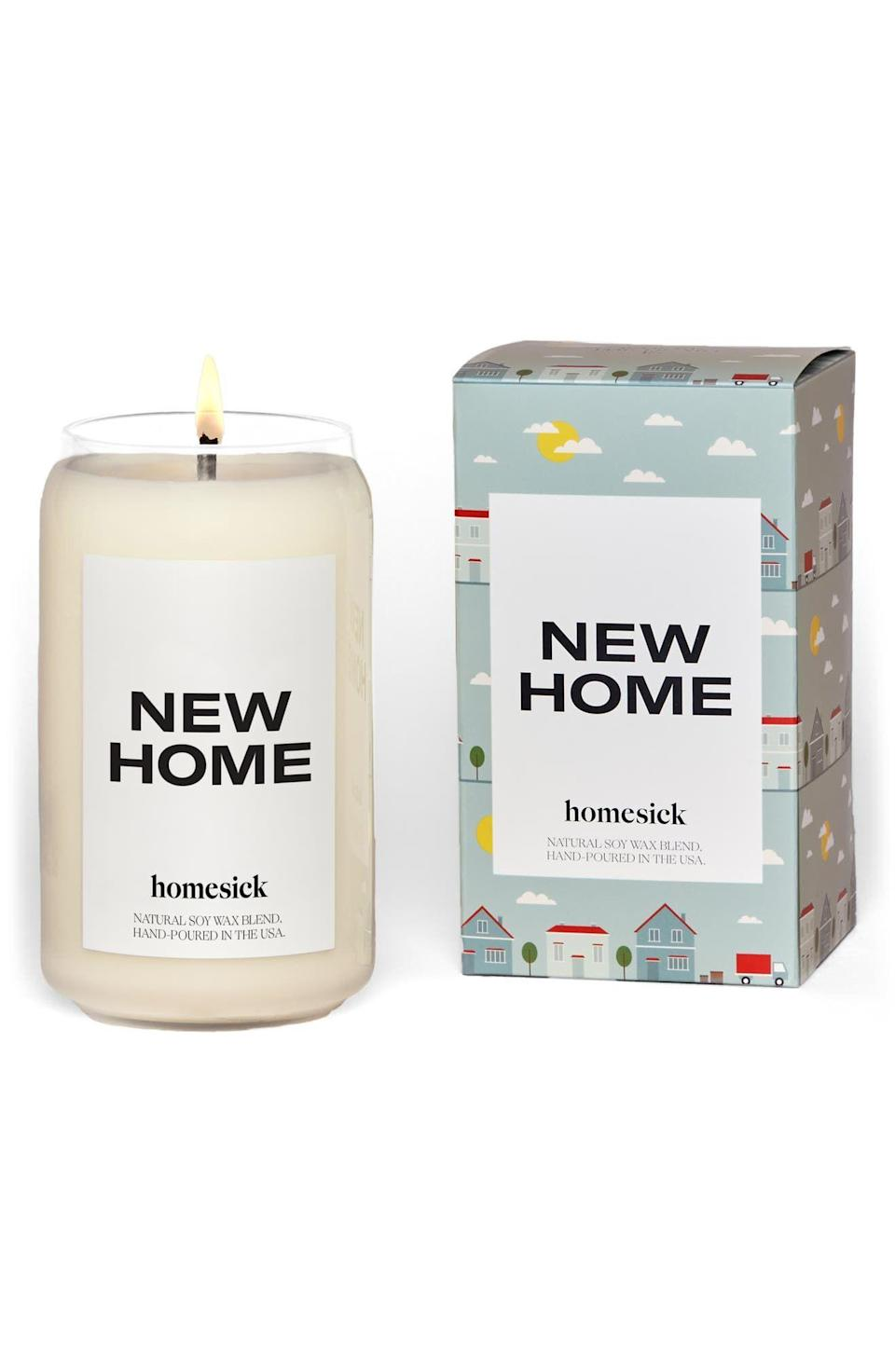 """<p><strong>Homesick</strong></p><p>nordstrom.com</p><p><strong>$34.00</strong></p><p><a href=""""https://go.redirectingat.com?id=74968X1596630&url=https%3A%2F%2Fwww.nordstrom.com%2Fs%2Fhomesick-new-home-candle%2F5916104%3Forigin%3Dcategory-personalizedsort%26breadcrumb%3DHome%252FBrands%252Fhomesick%26color%3D100&sref=https%3A%2F%2Fwww.oprahdaily.com%2Flife%2Fg23584712%2Fbest-scented-candles%2F"""" rel=""""nofollow noopener"""" target=""""_blank"""" data-ylk=""""slk:SHOP NOW"""" class=""""link rapid-noclick-resp"""">SHOP NOW</a></p><p>No matter how long you've been residing in your humble abode, evoke that optimistic and fresh feeling of a new home with this clean jasmine, cedarwood, and musk scent. This would make a great housewarming gift as well. </p>"""