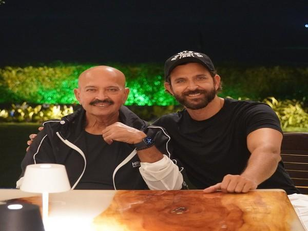 Hrithik Roshan with his father Rakesh Roshan (Image source: Instagram)