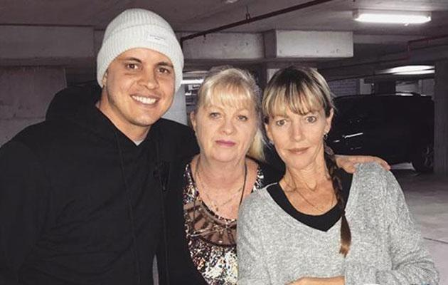 Johnny and his mum. Source: Instagram