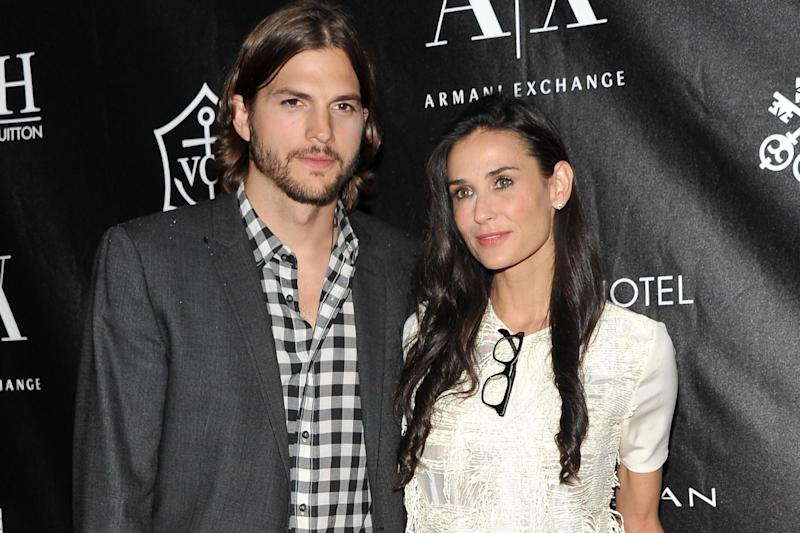 Ashton Kutcher and Demi Moore attend the Stephan Weiss Apple Awards on 9 June, 2011 in New York City: Stephen Lovekin/Getty Images