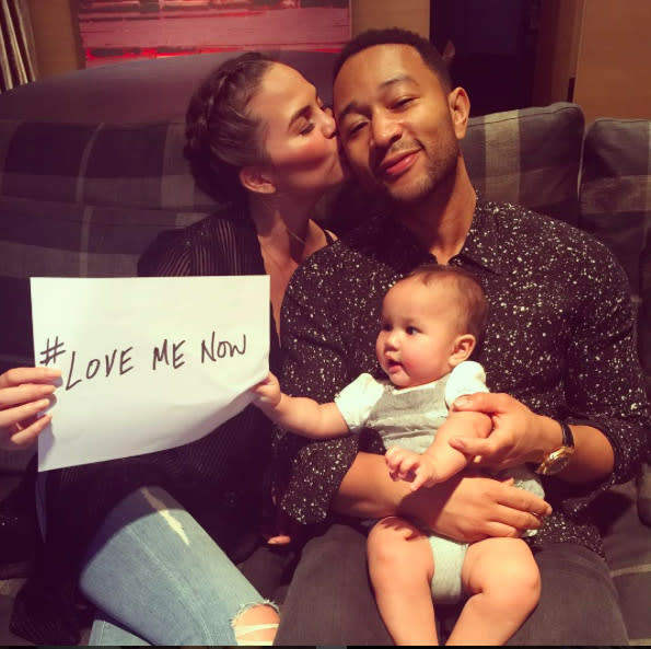 "<p>Chrissy Teigen and John Legend were over the moon when their baby girl arrived in April. ""She's here! Luna Simone Stephens, we are so in love with you! And sleepy. Very sleepy,"" Teigen <a rel=""nofollow"" href=""<a href="