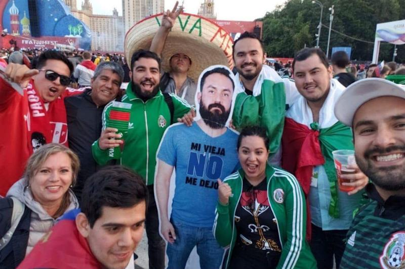 Mexican Fans Bring Friend's Cut-Out to FIFA World Cup After Girlfriend Plays Spoilsport