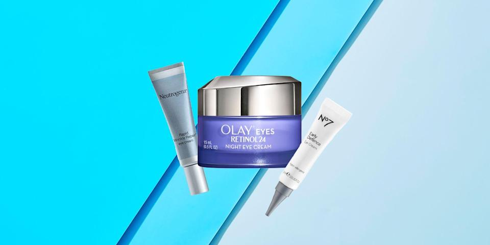 """<p>Retinol is the gold standard in anti-aging skincare thanks to its ability to reduce lines and wrinkles as well as tighten skin—so why wouldn't you want it in your eye cream? """"Retinol is a well studied powerhouse ingredient for the skin,"""" says Morgan Rabach, Board Certified Dermatologist and Co-Founder of LM Medical in NYC. """"It helps remove dead layers of skin, increases collagen and elastin production (thereby reducing the appearance of fine lines and wrinkles), and helps even out skin's tone—all problems a lot of people want to address around the eyes."""" <br></p><p>And even though retinol is perfectly safe to use around your eyes, there are some rules to follow when getting started to ensure you don't cause too much irritation. """"Retinol creams should be applied nightly, using a tiny amount under and around the sides of the eyes—just don't apply too close to the lash line,"""" says <a href=""""https://urldefense.com/v3/__https://www.instagram.com/drmarnienussbaum/?hl=en__;!!Ivohdkk!yBGQkUx04tO6JIuYaZOJ0v_z0EfXXOnPrXRtP8L3Kbs3G6NiY6CF46vVNF1pPmfp6Q$"""" rel=""""nofollow noopener"""" target=""""_blank"""" data-ylk=""""slk:Marnie Nussbaum"""" class=""""link rapid-noclick-resp"""">Marnie Nussbaum</a>, MD a New York City dermatologist. """"Start out using a retinol eye cream twice a week to make sure it agrees with your skin and then increase the frequency as your skin adjusts and becomes more comfortable with it."""" The only time you shouldn't be using retinol at all is if you're pregnant or breastfeeding, notes Dr. Nussbaum. </p><p>Here are some of the best dermatologist-approved eye creams with retinol. </p>"""