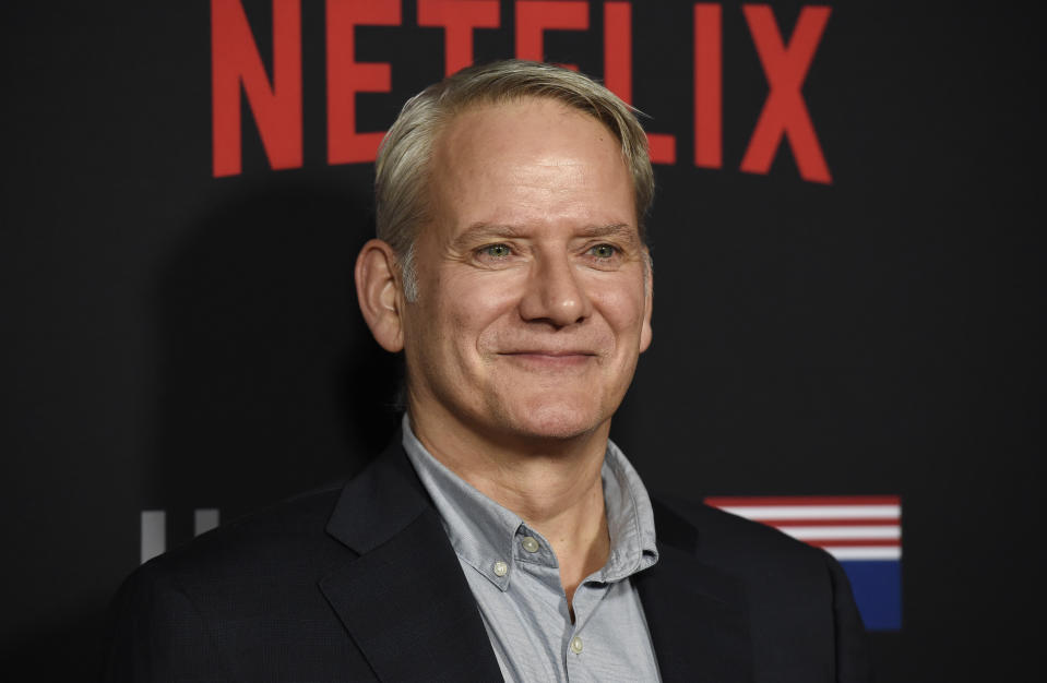 """Campbell Scott, a cast member in """"House of Cards,"""" poses at the season six premiere of the Netflix political drama series, Monday, Oct. 22, 2018, in Los Angeles. (Photo by Chris Pizzello/Invision/AP)"""