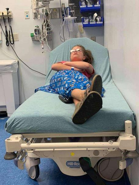 PHOTO: Gracie Brown, 10, is seen on July 7 at Children's Hospital in Knoxville, Tennessee, where she was diagnosed with hair-grooming syncope. (Alicia Renee Phillips)