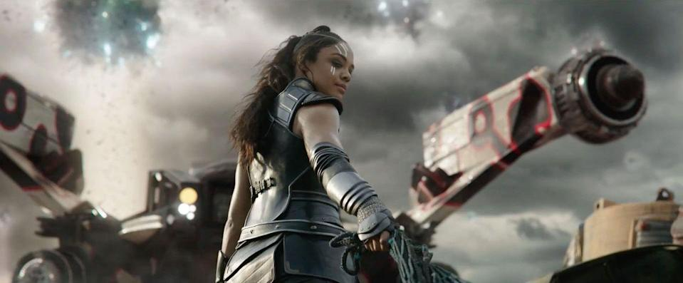 "<p><strong>Last sighted:</strong> <em>The </em><em>Statesman</em><br>Valkyrie was confirmed to have the Asgardian refugees' spaceship during Thanos' attack at the beginning of <em>Infinity War</em>. Actress Tessa Thompson has also confirmed that she <a rel=""nofollow noopener"" href=""http://www.digitalspy.com/movies/the-avengers/news/a867343/avengers-4-tessa-thompson-valkyrie-appearance-tease/"" target=""_blank"" data-ylk=""slk:survived the Snap"" class=""link rapid-noclick-resp"">survived the Snap</a> – and she's been seen on set for <em>Avengers 4</em>, too.</p>"