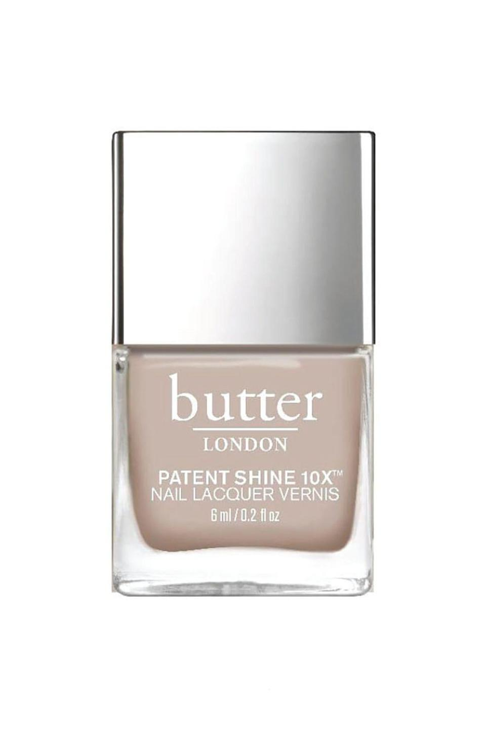 """<p><strong>butter LONDON Sandy Crème Nail Lacquer</strong></p><p>amazon.com</p><p><strong>$12.00</strong></p><p><a href=""""http://www.amazon.com/dp/B07R11N1Y6/?tag=syn-yahoo-20&ascsubtag=%5Bartid%7C10058.g.3965%5Bsrc%7Cyahoo-us"""" rel=""""nofollow noopener"""" target=""""_blank"""" data-ylk=""""slk:SHOP IT"""" class=""""link rapid-noclick-resp"""">SHOP IT</a></p><p>This timeless, sandy neutral will carry you through all seasons and complement every #OOTD. </p>"""