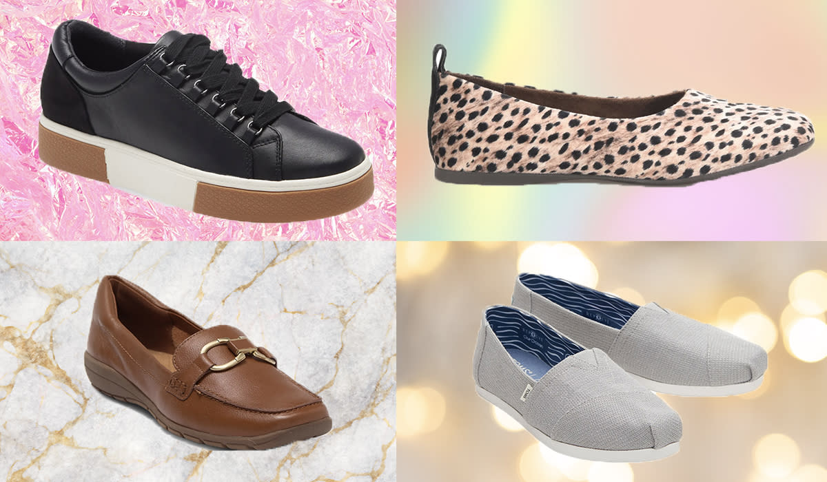 Transform the season with the cutest, comfiest sneakers, flats and slip-ons — on sale now. (Photo: Nordstrom Rack, Nordstrom)