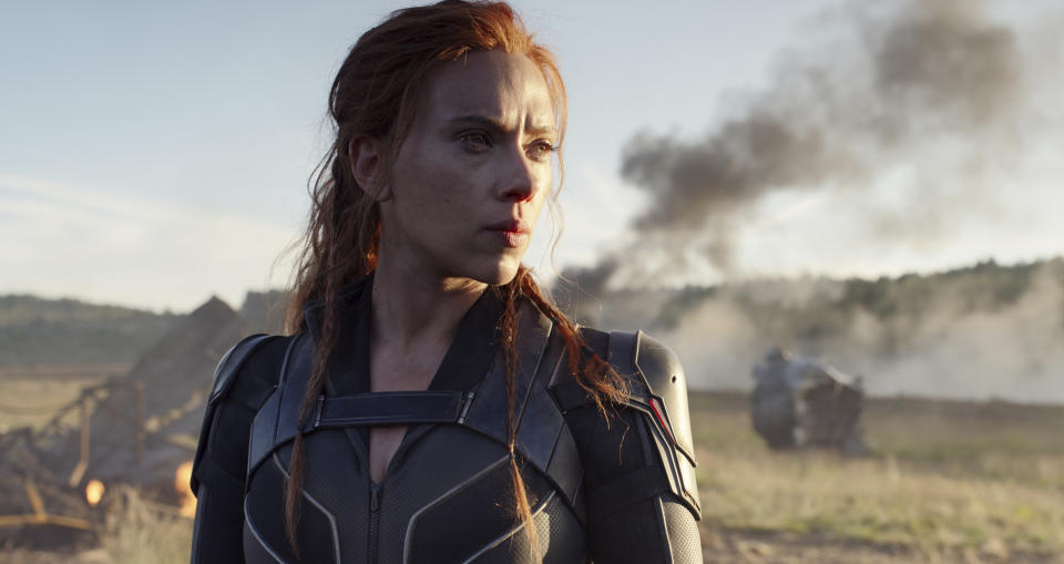 This image released by Disney/Marvel Studios' shows Scarlett Johansson in a scene from