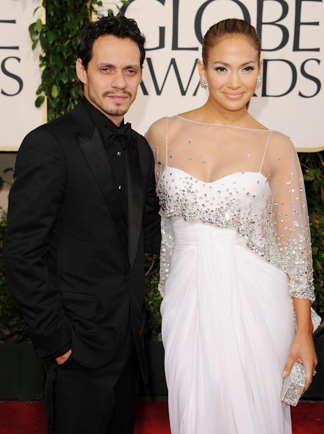 <p>Lopez and Anthony split in 2011 with the couple filing for divorce the following year. However, it wasn't until 2014 that the pair were officially ex-husband and -wife. That was long enough for both Lopez and Anthony to each begin and end new romantic relationships, with Casper Smart and Chloe Green, respectively. The <em>Shades of Blue</em> star ended up with primary custody, while no spousal support was given to either. The two remain good friends today. (Photo: Getty Images) </p>