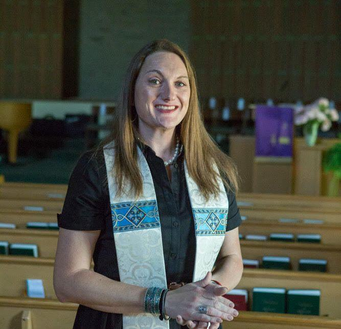 The writer at Lorne Park Baptist Church in Mississauga, where she worked for six years as lead pastor before being fired, in June. (Photo: John Cullen)