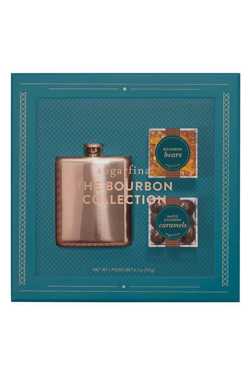 """<p><strong>Woodford Reserve</strong></p><p>neimanmarcus.com</p><p><strong>$42.00</strong></p><p><a href=""""https://go.redirectingat.com?id=74968X1596630&url=https%3A%2F%2Fwww.neimanmarcus.com%2Fp%2Fsugarfina-vice-2-0-collection-flask-gift-set-prod214340252&sref=https%3A%2F%2Fwww.cosmopolitan.com%2Flifestyle%2Fg5199%2Flast-minute-gifts%2F"""" rel=""""nofollow noopener"""" target=""""_blank"""" data-ylk=""""slk:Shop Now"""" class=""""link rapid-noclick-resp"""">Shop Now</a></p><p>Gift sets make great last-minute gifts. Why? Because they already come perfectly boxed and wrapped and ready to give away. This gift box, which contains a copper flask, bourbon bears, and maple bourbon caramels, is a no-brainer for the person who loves sweets and a good drink.</p>"""