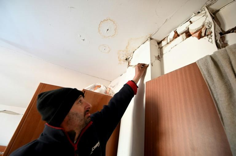Josip Likevic, 41, and his family are having to live in a donated mobile home