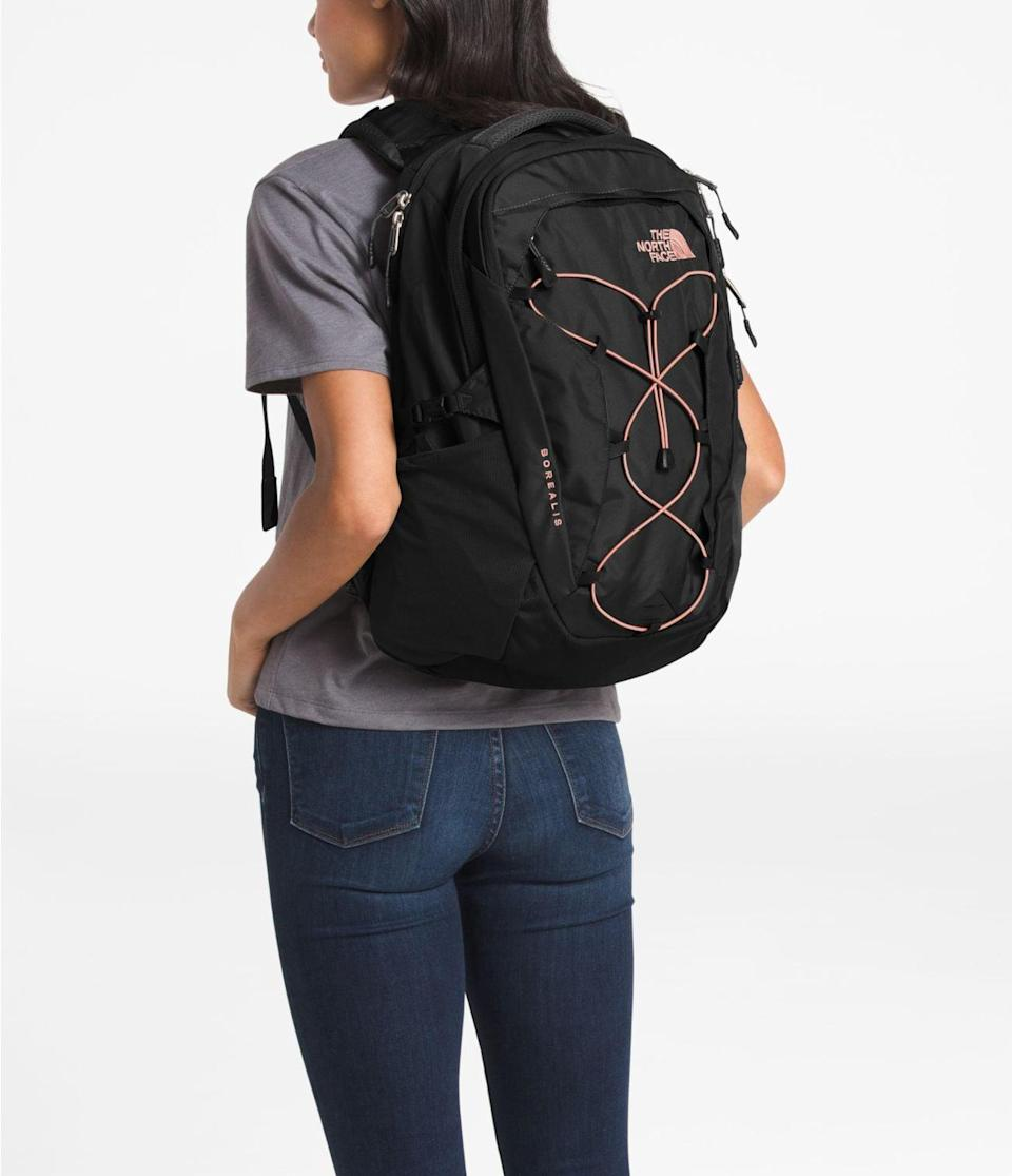 <p>This <span>The North Face Women's Borealis Backpack</span> ($89) can hold everything you need.</p>