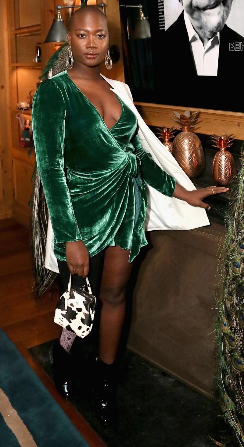 LOS ANGELES, CA - NOVEMBER 15: Mama Cax attends the Herring & Herring Issue 5 launch party at the private residence of Jonas Tahlin, CEO of Absolut Elyx on November 15, 2018 in Los Angeles, California. (Photo by Gabriel Olsen/Getty Images for Herring & Herring and Absolut Elyx)