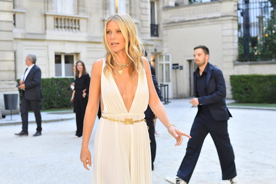 PARIS, FRANCE - JULY 03:  Gwyneth Paltrow attends the Valentino Haute Couture Fall/Winter 2019 2020 show as part of Paris Fashion Week on July 03, 2019 in Paris, France. (Photo by Jacopo Raule/Getty Images)