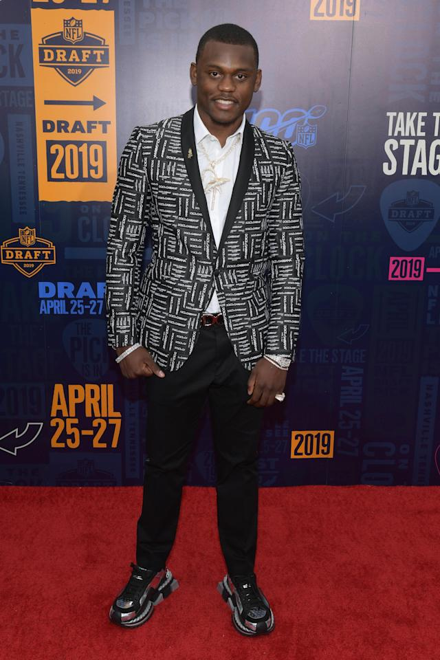 Football player Deandre Baker attends the 2019 NFL Draft on April 25, 2019 in Nashville, Tennessee. (Photo by Jason Kempin/Getty Images)
