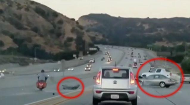 Plenty of videos have captured a number of road rage incidents, such as this one that caused a chain reaction of problems. Photo: Channel 7