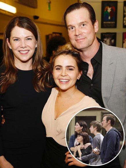 """Nothing can break the Braverman bond – even after the series finale! Mae Whitman's on-screen mom, Lauren Graham, and uncle, Peter Krause, came out to show their support for her turn in play <em>The Mystery of Love and Sex</em> in L.A. on Feb. 22, 2016. """"We bravermans gotta stick together #themysteryofloveandsex #supportivefamily #extremelylucky"""" Whitman captioned <a href=""""https://www.instagram.com/p/BCHLvoWlhat/?taken-by=mistergarf"""">an Instagram snap</a> with her famous """"family."""""""