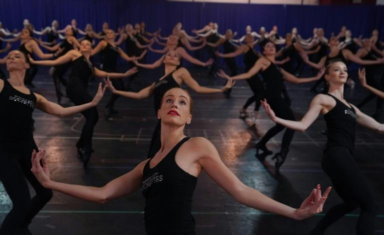 The Radio City Rockettes rehearse for the 2019 Christmas Spectacular in New York on October 22, 2019