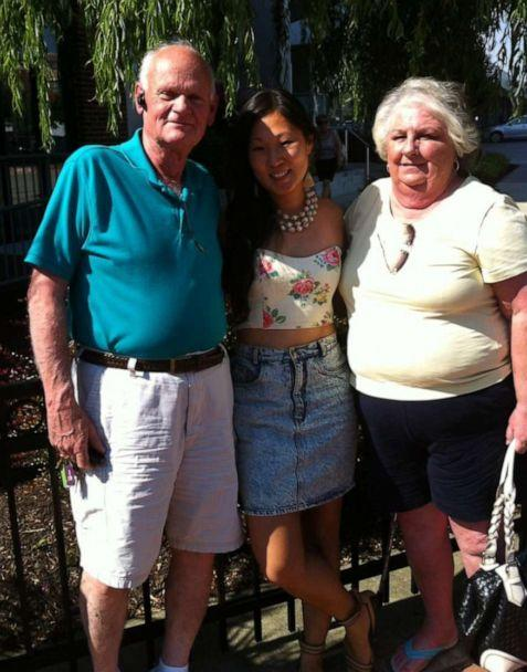 PHOTO: Caitlin Boston, center, poses with her parents Jim Boston and Nancy Boston. (Caitlin Boston)