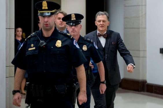 George Kent, deputy assistant secretary of state, leaving Capitol Hill after testifying in the impeachment hearings (AP)