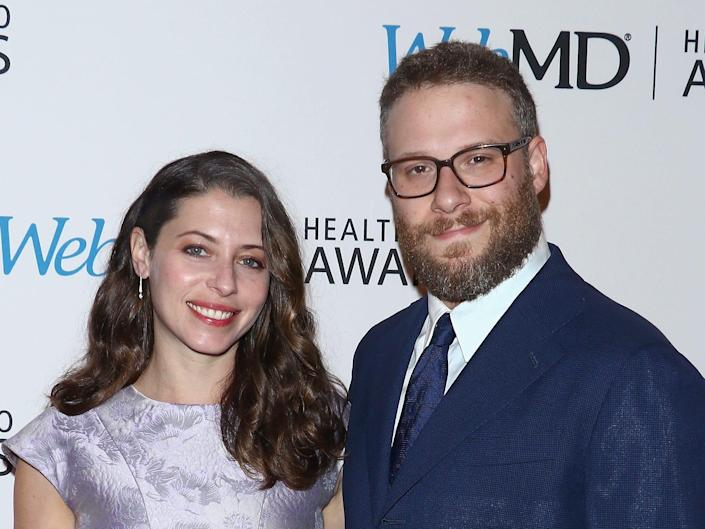 Actors Lauren Miller and Seth Rogen attend the WebMD Health Hero Awards at TheTimesCenter on November 3, 2016 in New York City.